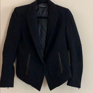 Alexander wang women's 2 black wool blazer jacket